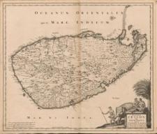 Insula Ceilon olim Taprobana incolis Tenarisin et Lankawn exactissime delineata et nuperrime edita per Nicolaum Visscher
