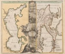Geographica nova ex Oriente gratiosissima, duabus tabulis specialissimis contenta, quarum una Mare Caspium, altera Kamtzadaliam seu Terram Jedso curiose exhibent