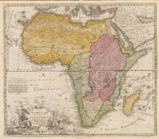 Totius Africae nova repraesentatio qua praeter diversos in ea Status et Regiones, etiam origo Nili ex veris RR PP missionariorum relationibus ostenditur a Io. Baptista Homanno