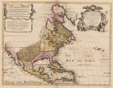 L'Amerique Septentrionale dressée sur les observations de Mrs. de l'Academie Royale des sciences. et quelques autres, et sur les memoires les plus recens par G. de l'Isle geographe