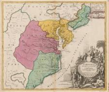 Virginia, Marylandia et Carolina in America Septentrionali Britannorum industria excultae repraesentatae a Ioh. Bapt. Homann.