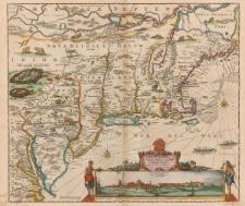 Novi Belgii, Novaeque Angliae nec non Pensylvaniae et partis Virginiae tabula multis in locis emendata a Iusto Danckerts