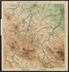 Wegekarte vom Waldenburger Gebirge