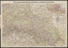 Silva-Autostraßenkarte von Schlesien und Südost-Deutschland