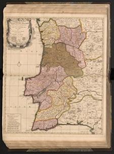 Corona Portugalliæ et Algarbia Veteris quondam Pars Quae Lusitania audiit: Iam amplior, hic Suas in Provincias et Diæceses noviter distributas