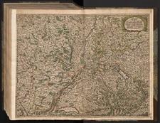 Carte von Lottringen Elsaß Franche Comté Schweizerland und Würtenberg