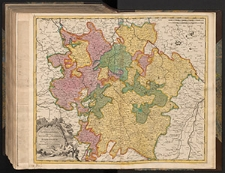 Generalis Lotharingia, Dispartita in Ducatum ejus Proprium, et Barrensem : Quorum intra Fines continentur Episcopatus Metensis, Tullensis, Verdunensis