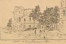 Ansicht der alten Burg zu Fürstenstein im innern Hofraum